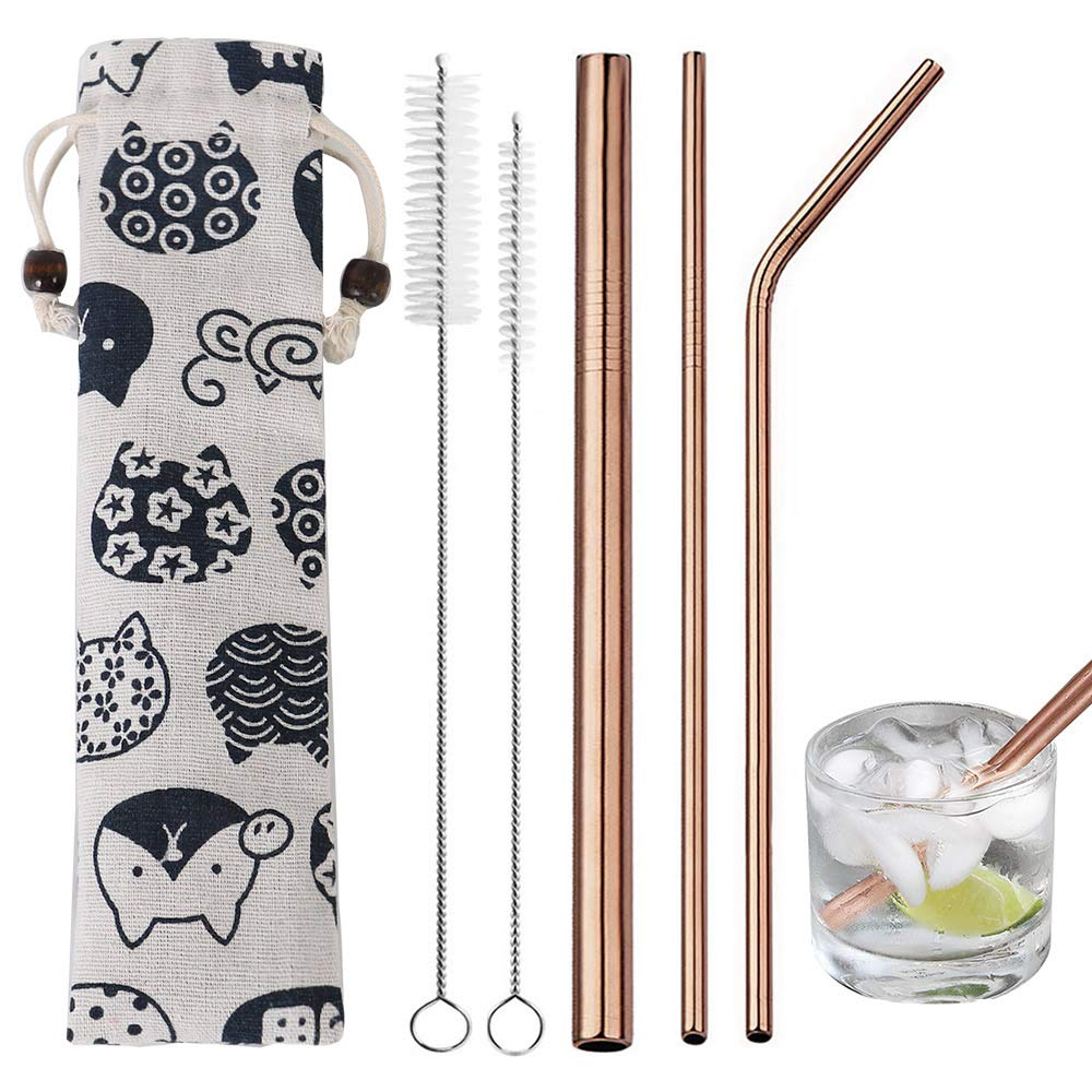 Stainless Steel Straws Reusable Drinking Straws