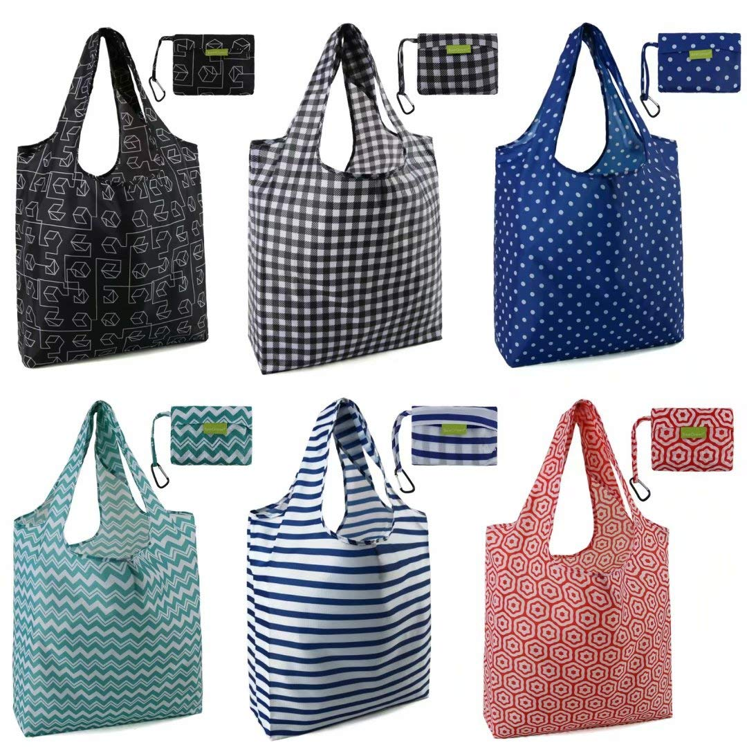 Folding Shopping Bags Reusable Grocery Totes