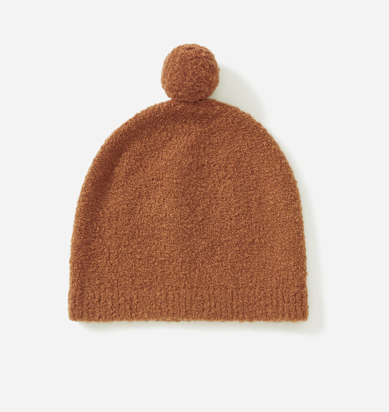 orange teddy beanie from Everlane
