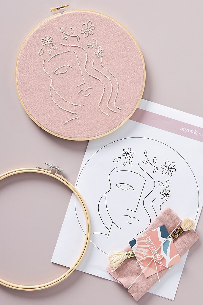 Anthropologie: Flora Embroidery Kit