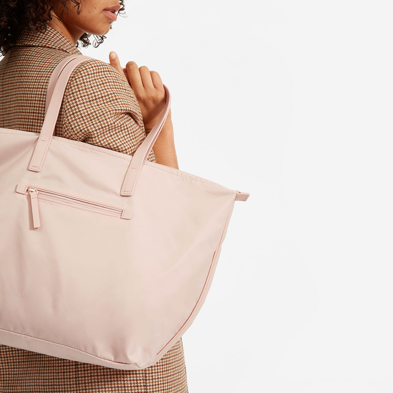 pale pink ReNew Traveler Tote from Everlane