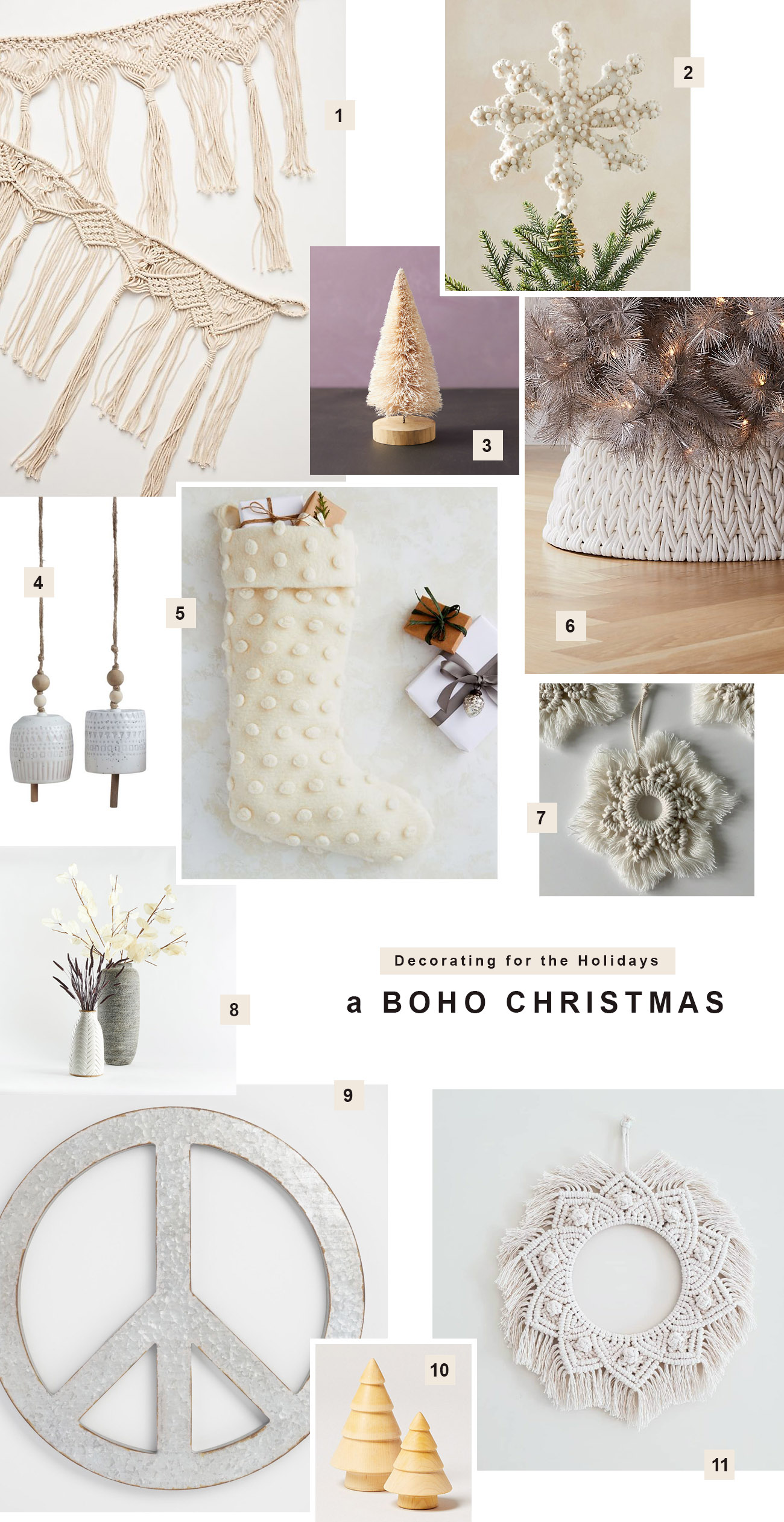 Boho Christmas decoration