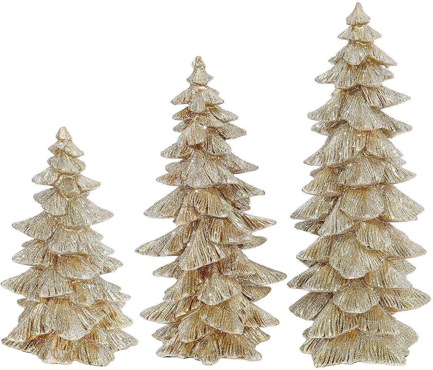 Champagne Gold Glittered Christmas Trees
