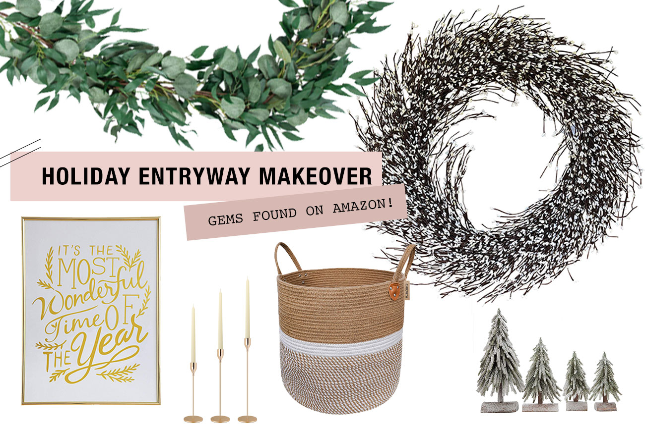 We Found the Cheeriest Holiday Entryway Decor on Amazon