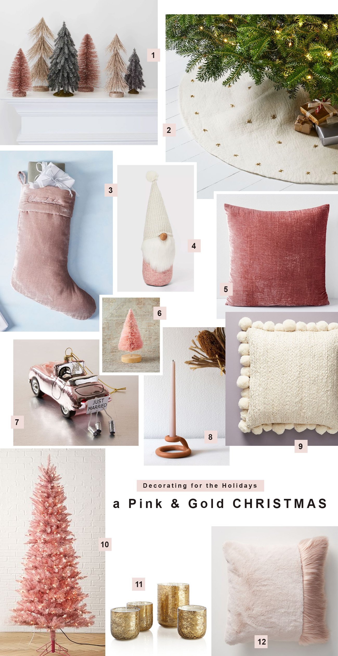 Get the Look: a Pink & Gold Christmas
