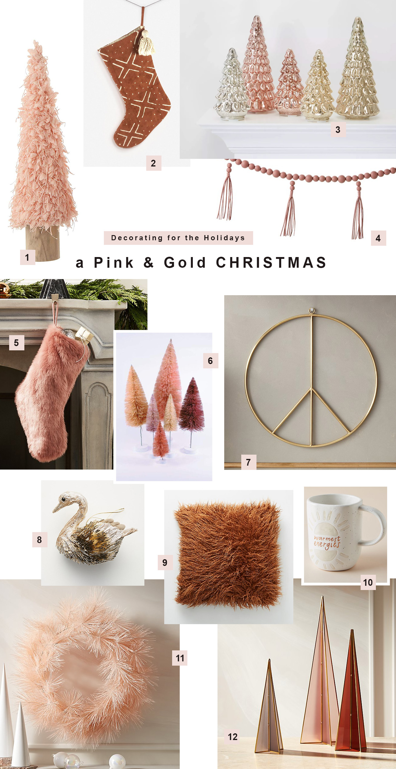 Get the Look: a Pink & Rust Christmas