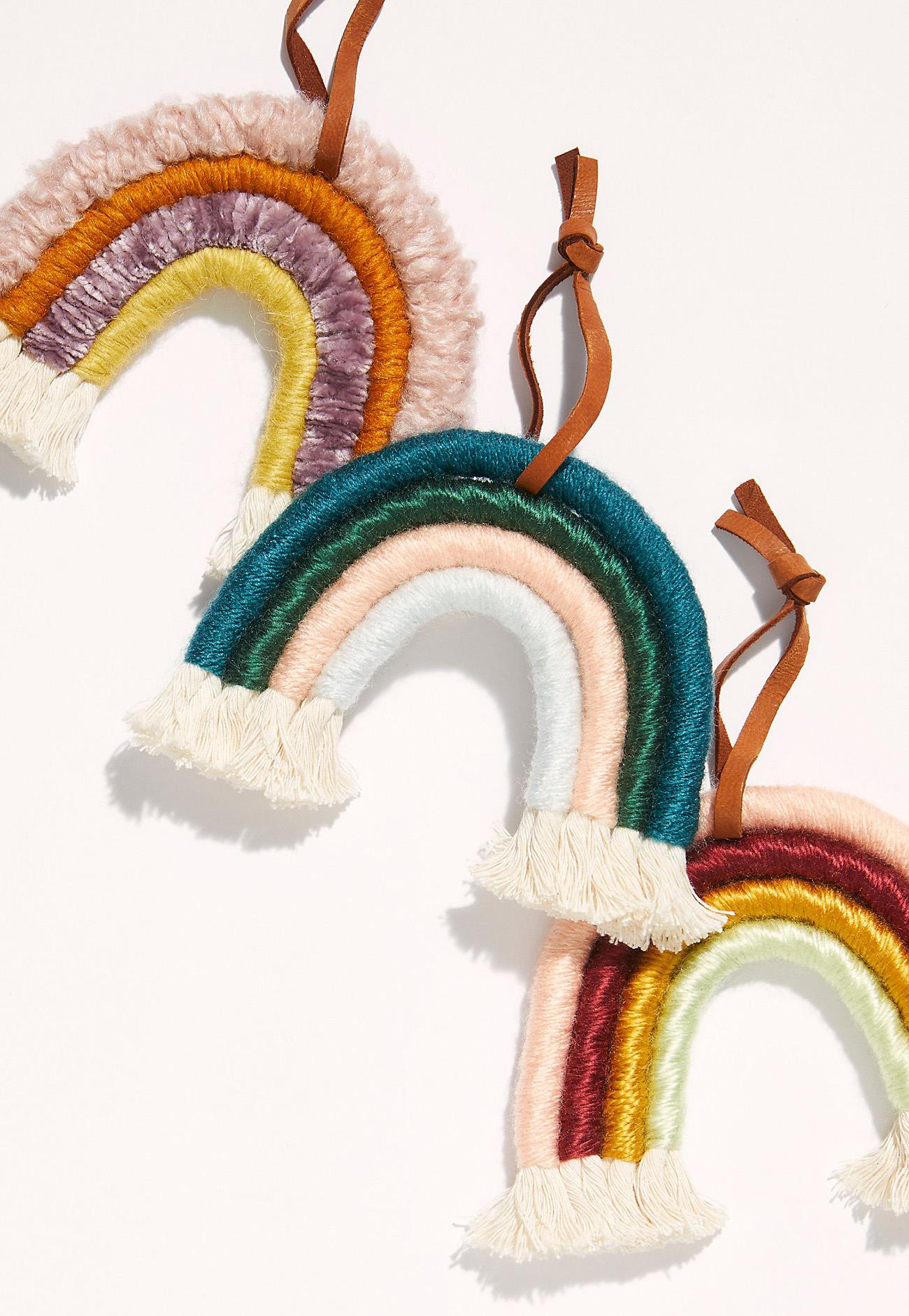 boho rainbow ornament