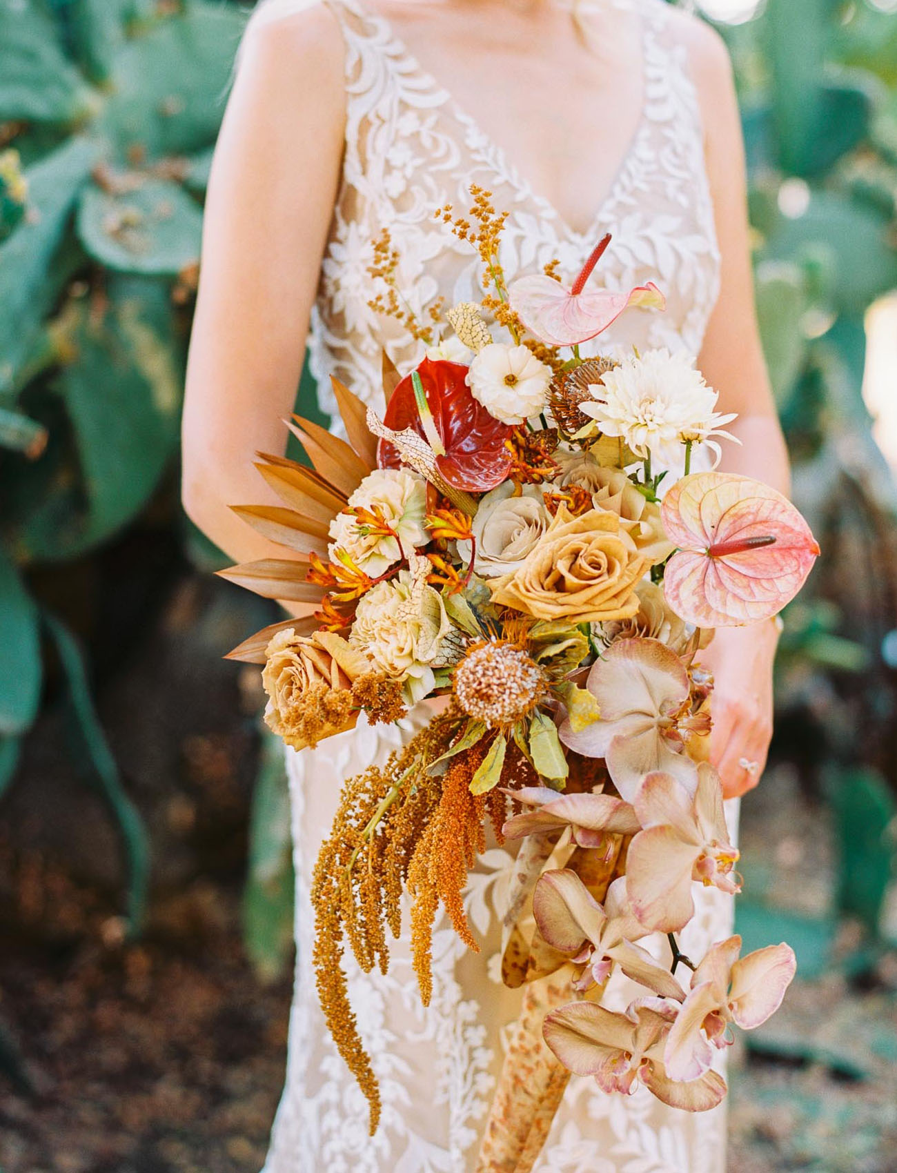 boho rust colored bouquet
