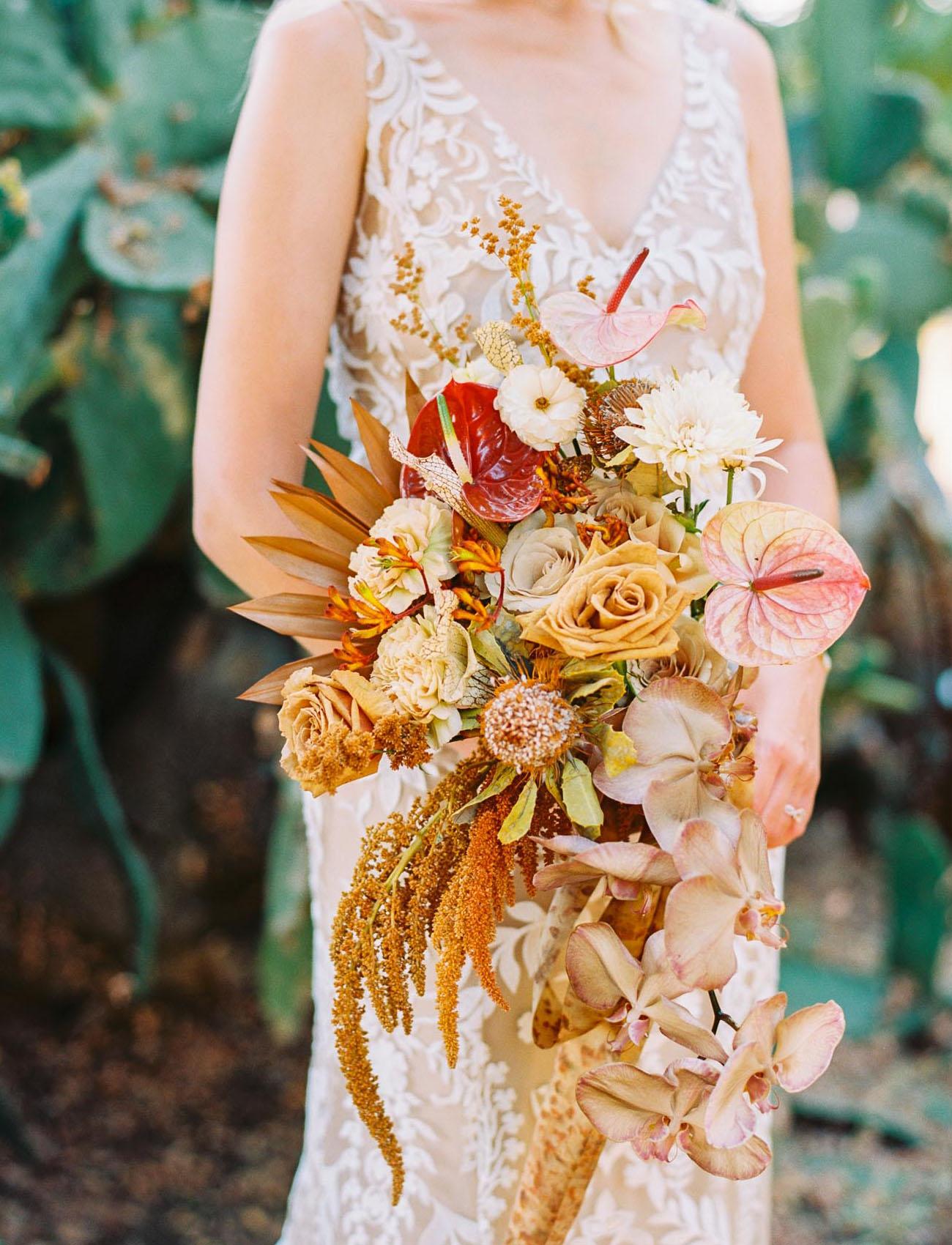 boho rust colored bouquet