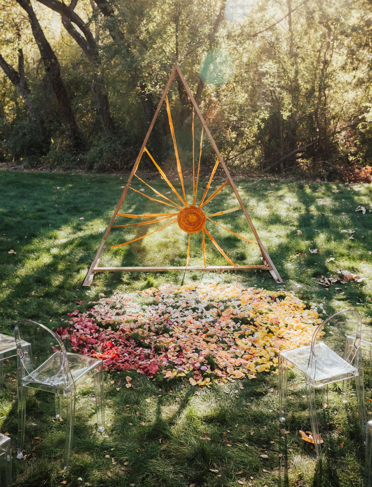 sun ceremony backdrop