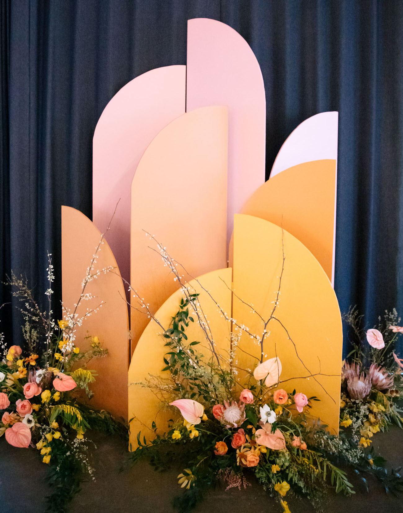 modern backdrop shapes