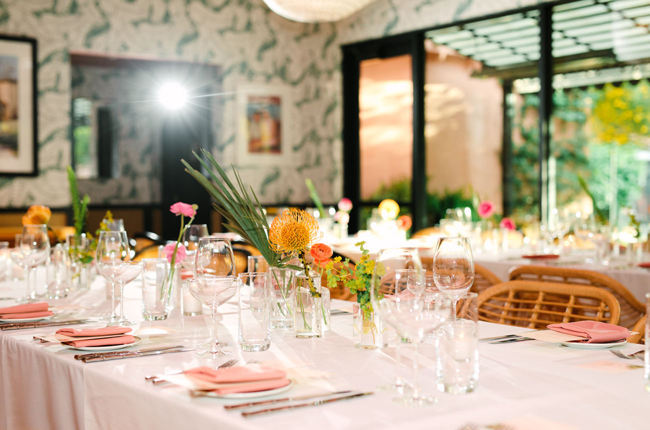 Pink Retro Tropical Wedding at Sands Hotel and Spa