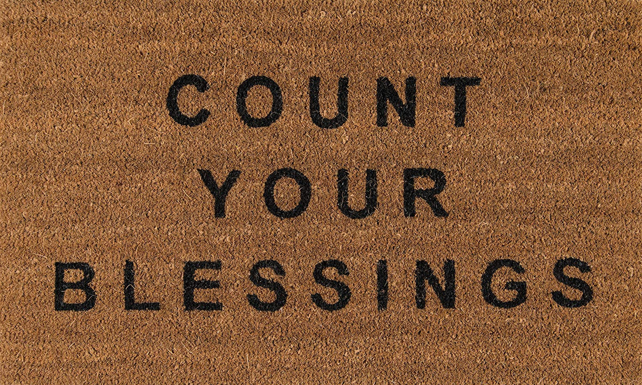 Count Your Blessings Floor Mat