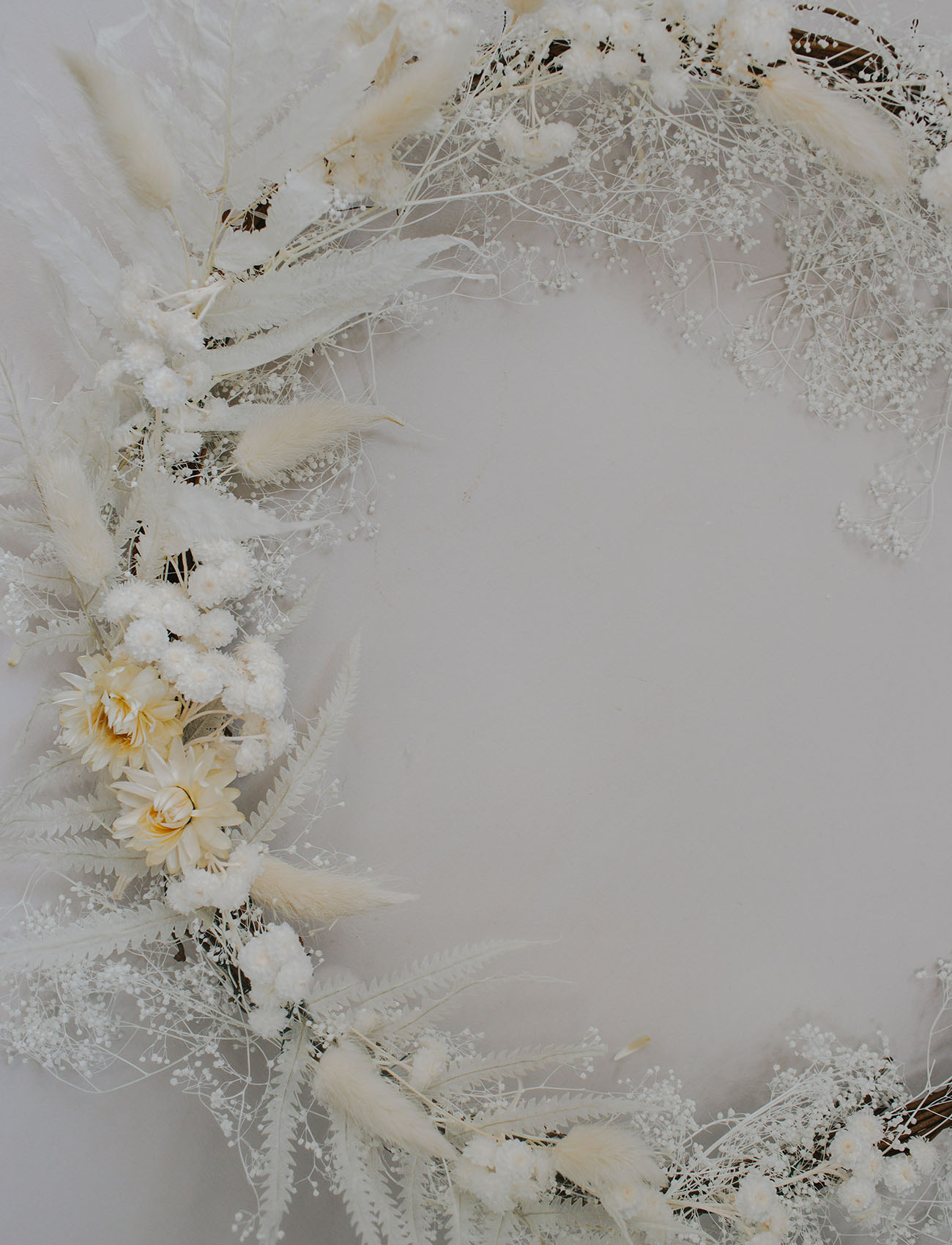 Holiday Wreath with Dried Florals