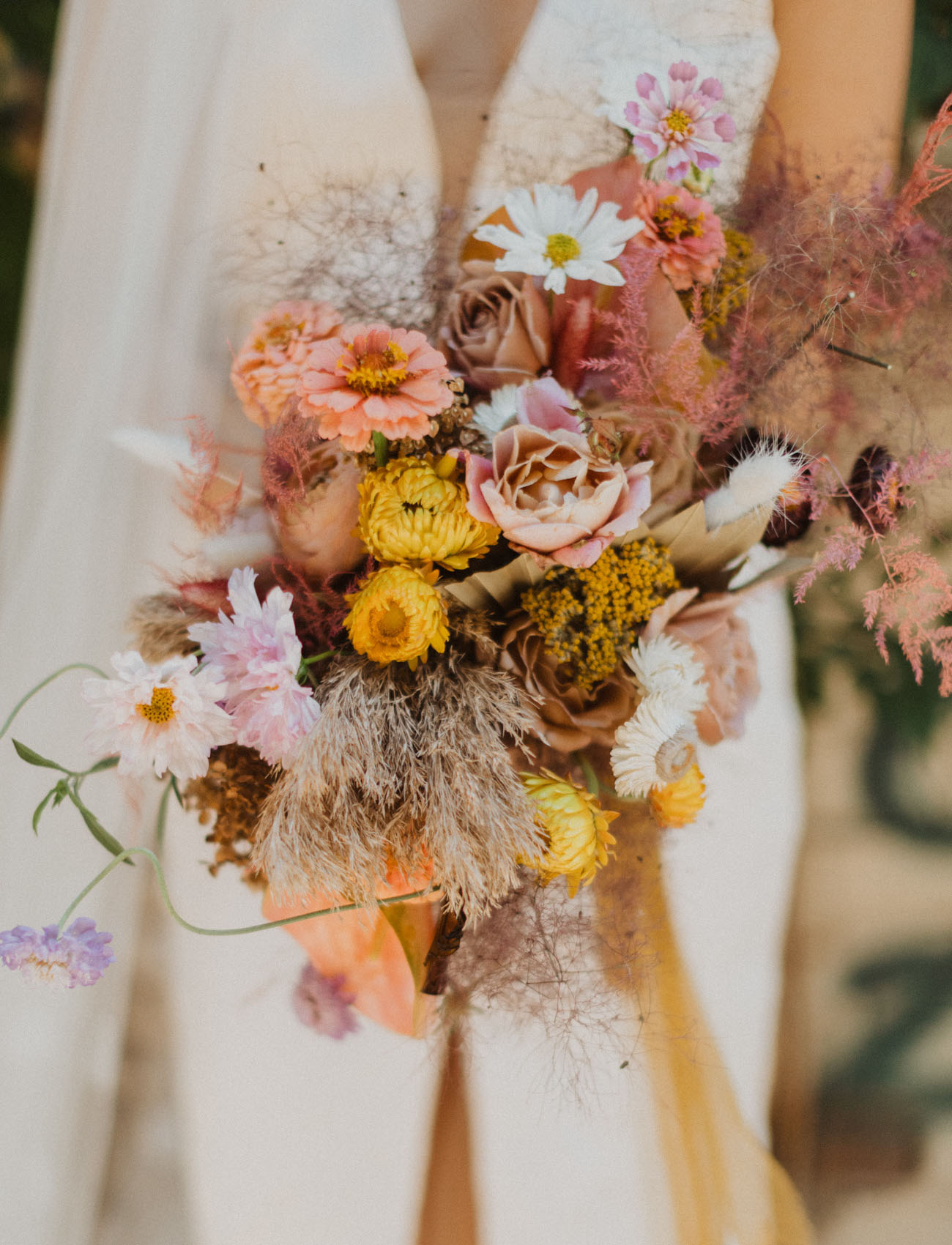 wild and dried flower bouquet