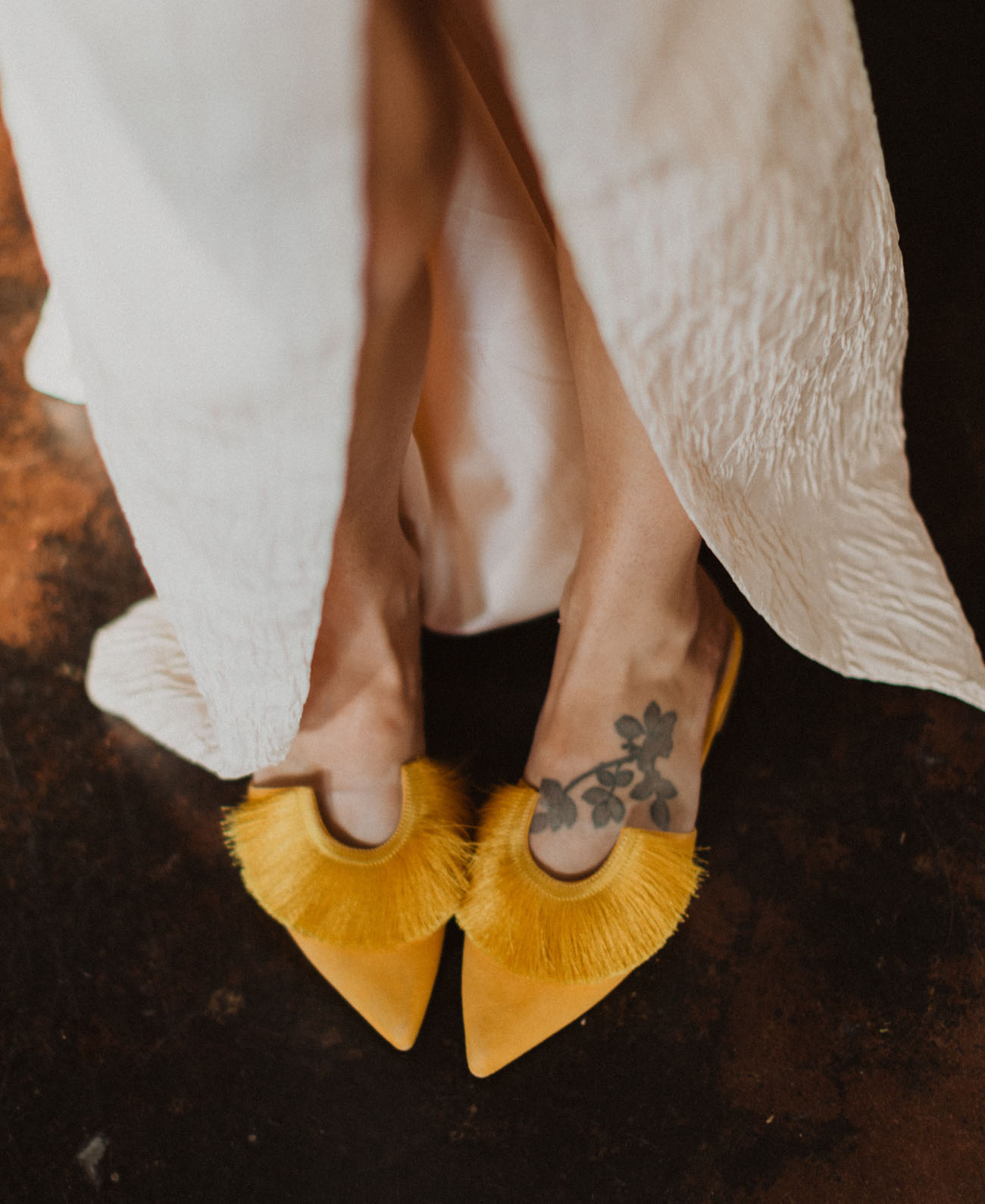 yellow brides shoes