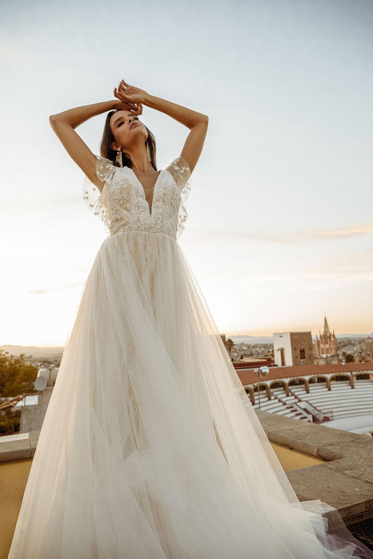 Introducing the Tara Lauren 2020 Collection: romantic, fresh, elevated bohemian wedding dresses.