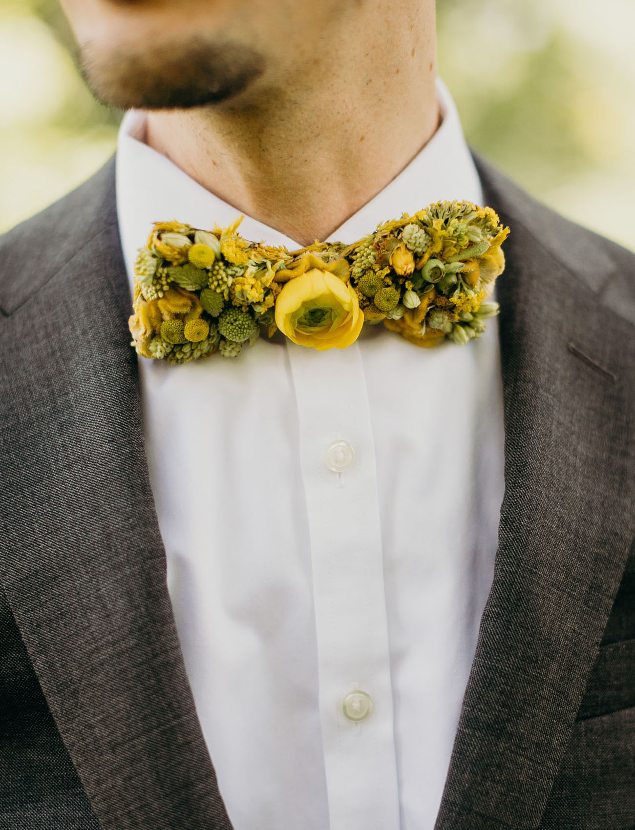 real floral bowtie