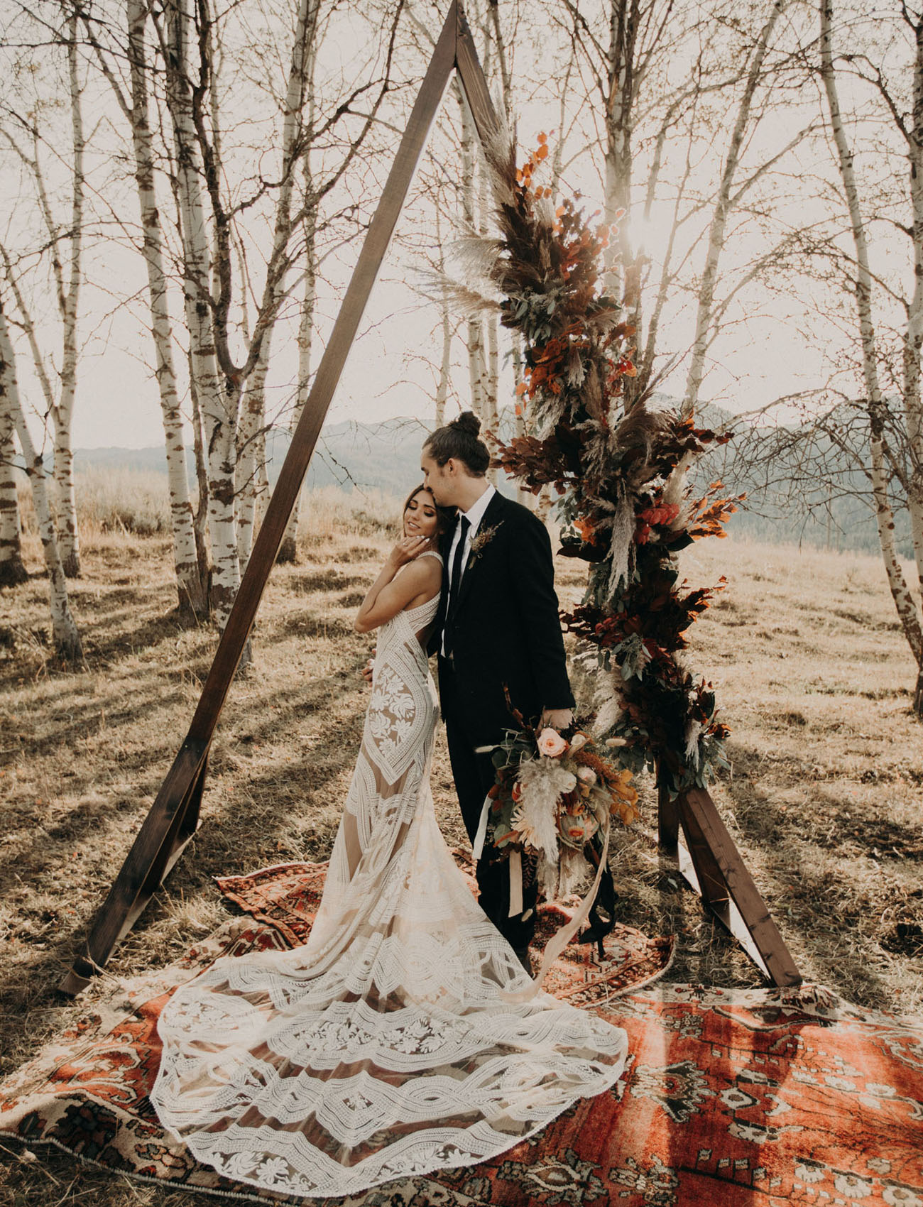 Whiteout Bohemian Bridesmaids for this Fall Wedding in West Idaho