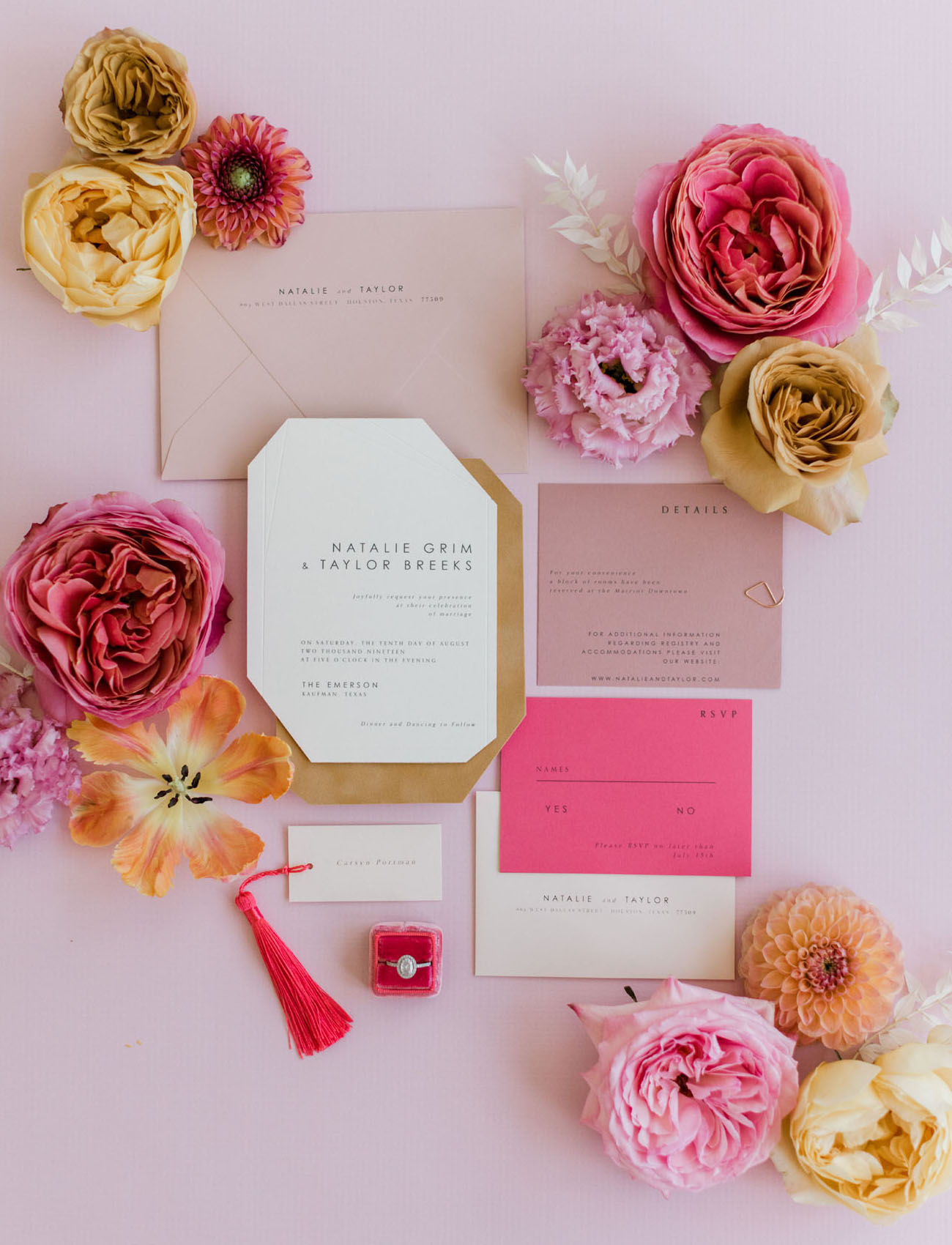 Millennial Pink Wedding Invitation