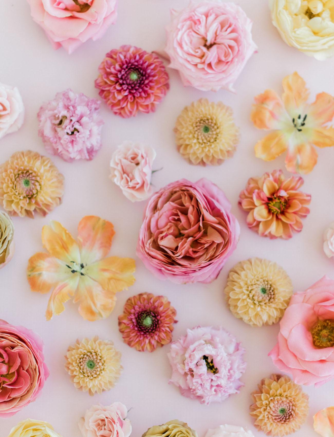 Millennial Pink Flower Flatlay