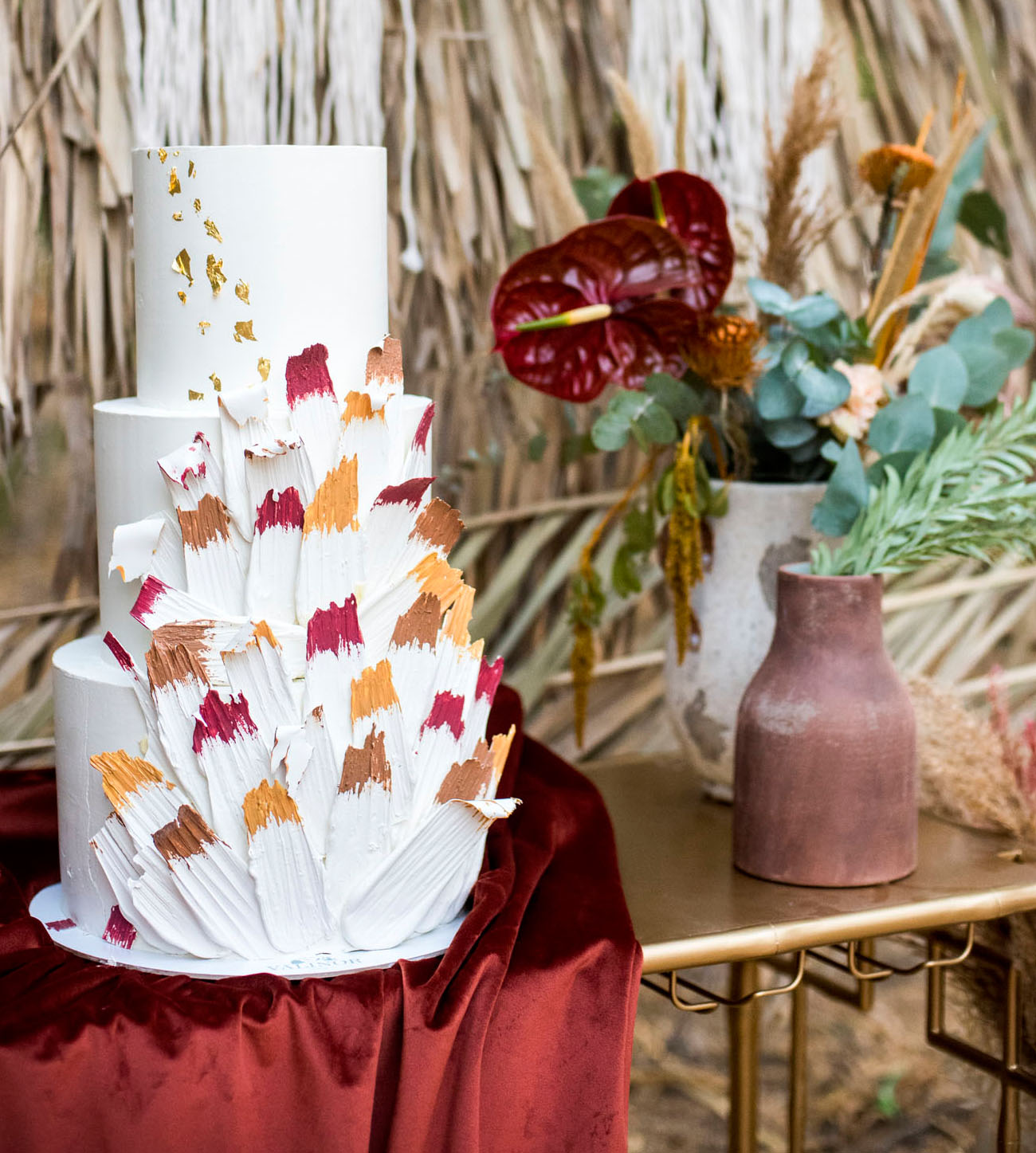moroccan inspired wedding cake