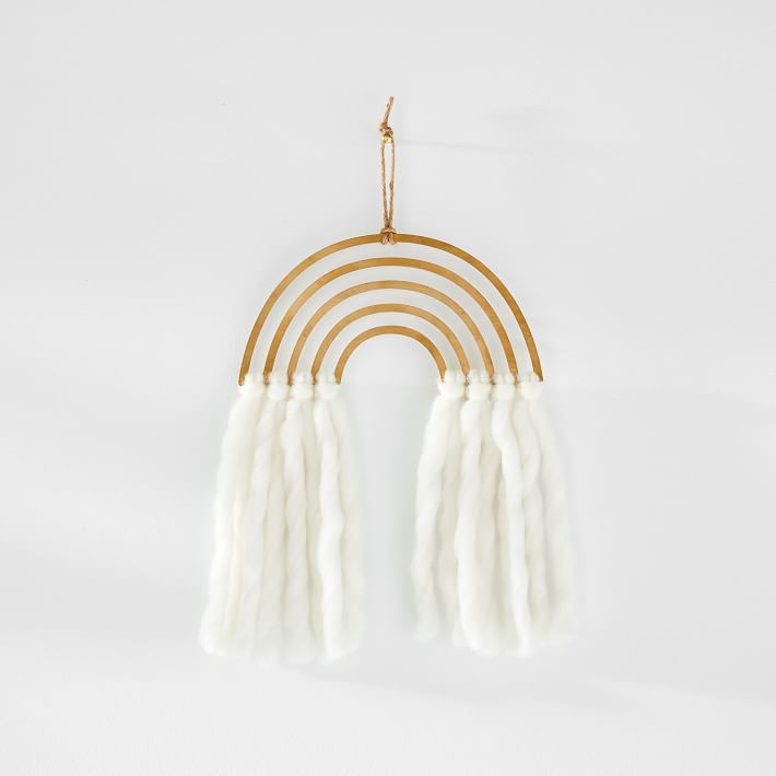 Brass Wall Rainbow Hanging from West Elm