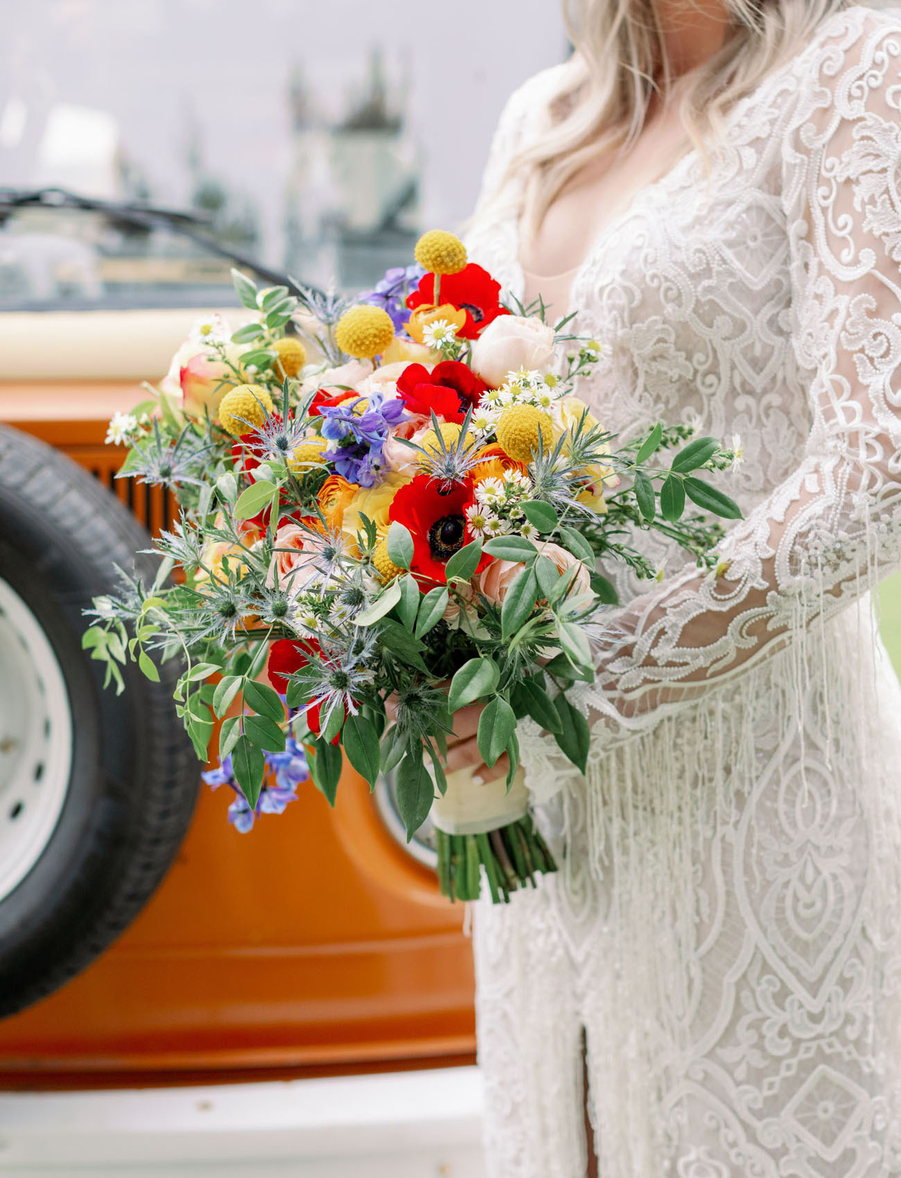 Colorful Retro Woodstock Wedding Inspiration