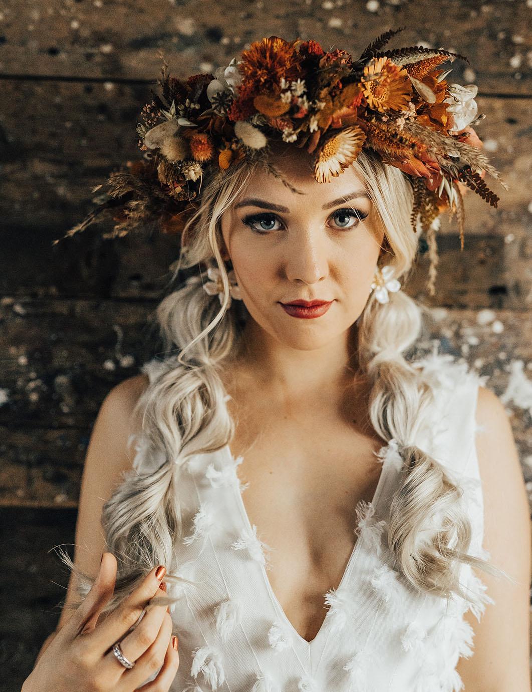 rust flower crown