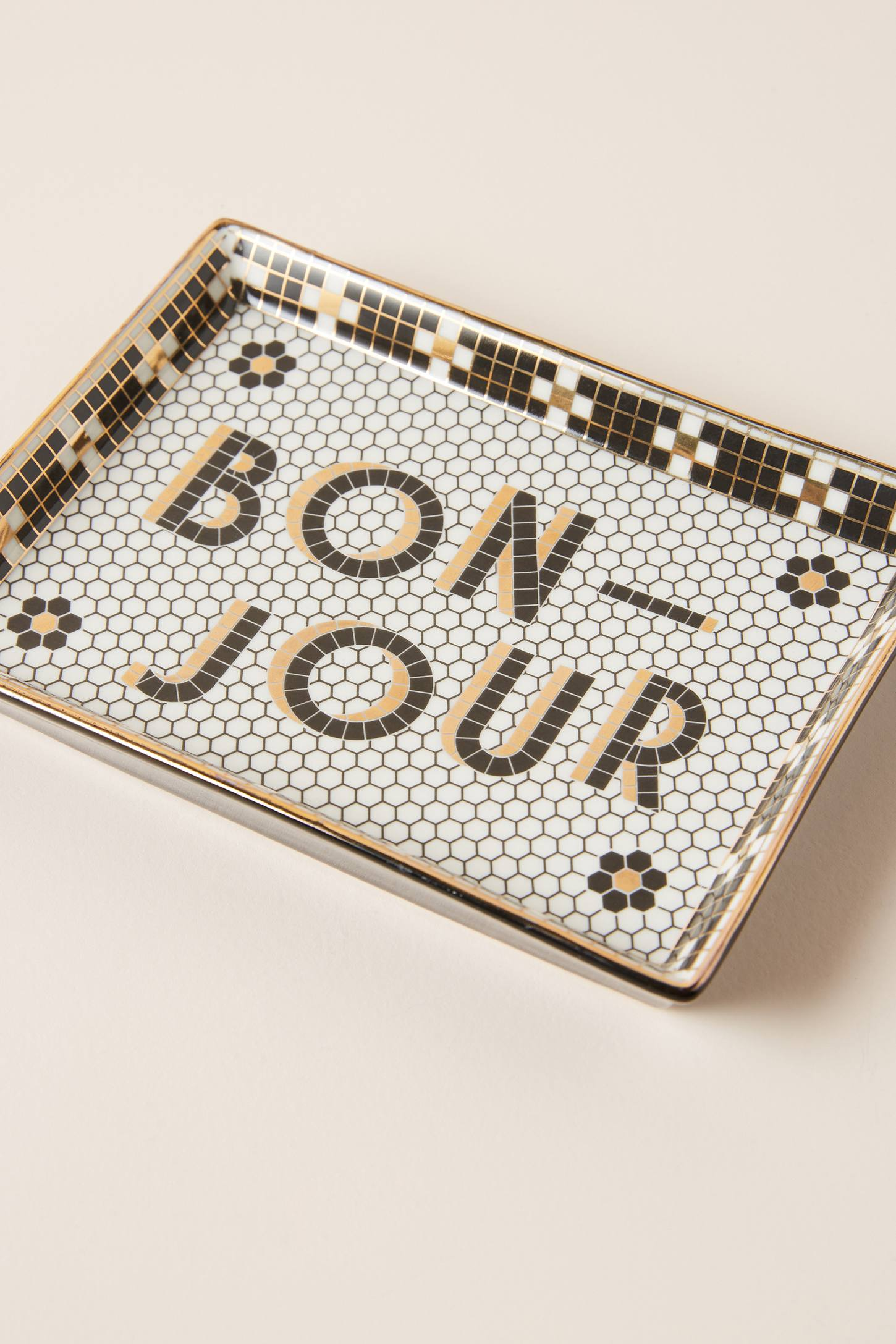 """Bonjour"" Tile Vanity Tray"