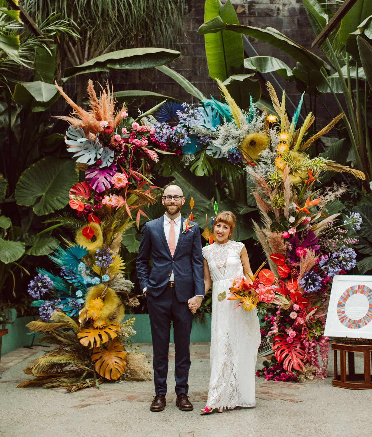 Wes Anderson meets Frida Kahlo Wedding