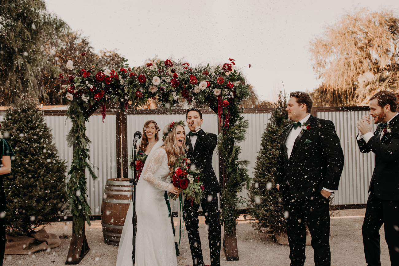 Snowy Socal Christmas Wedding