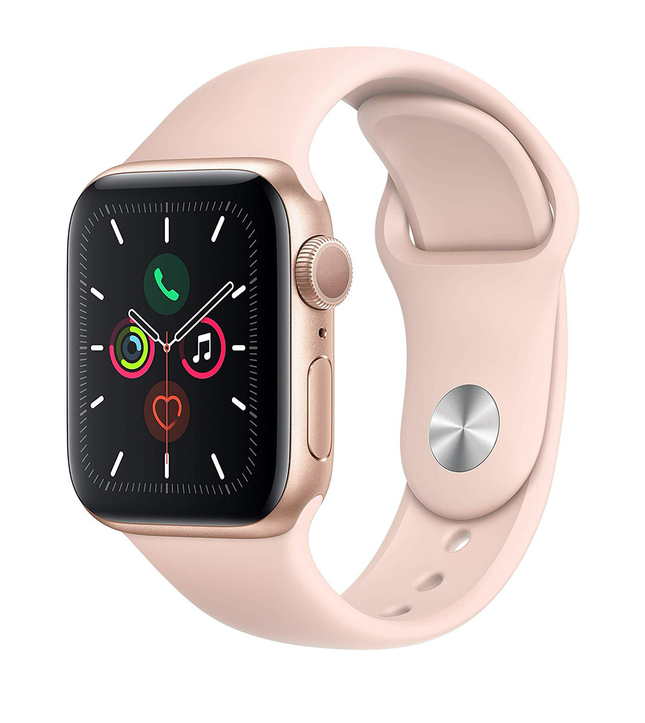 apple watch with pink band
