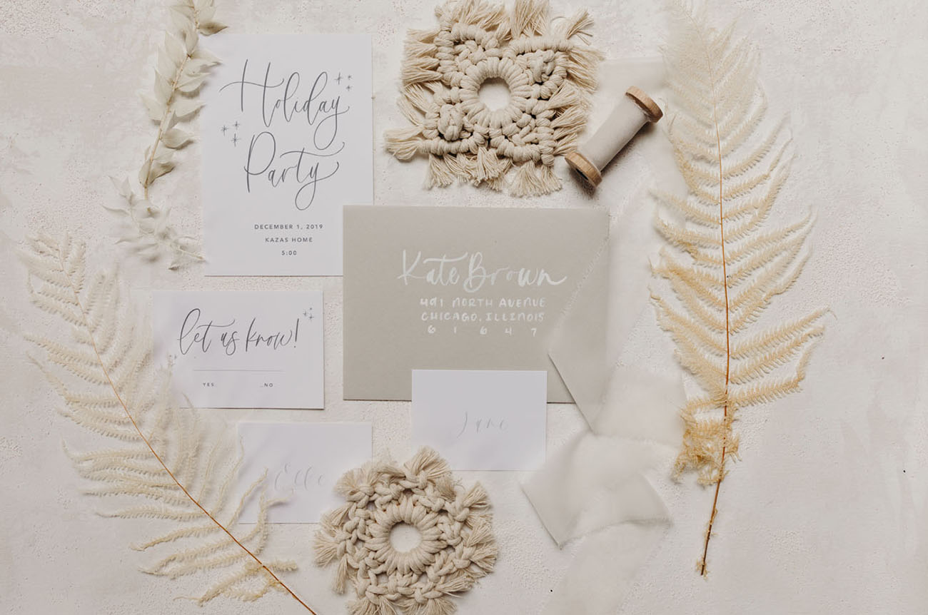 winter inspired invitation