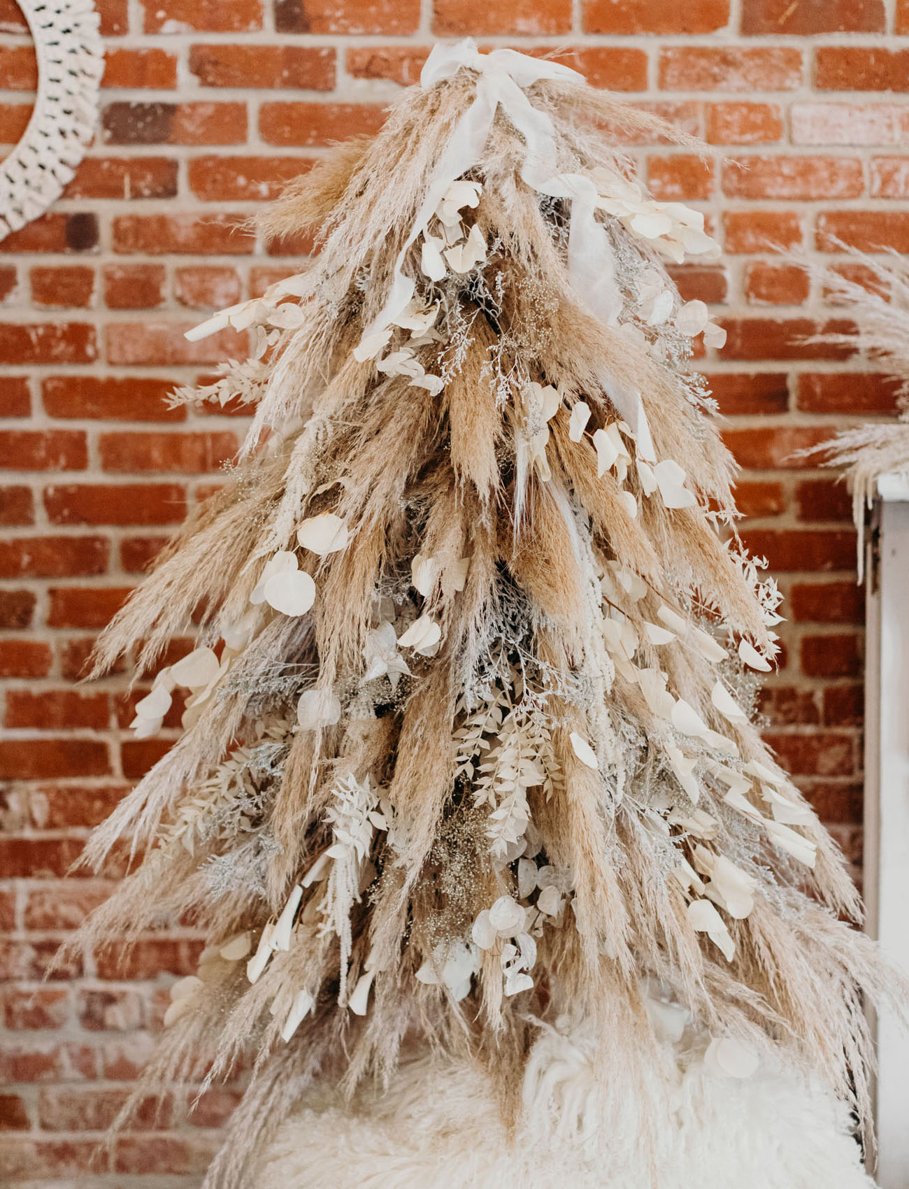 pampas grass christmas tree