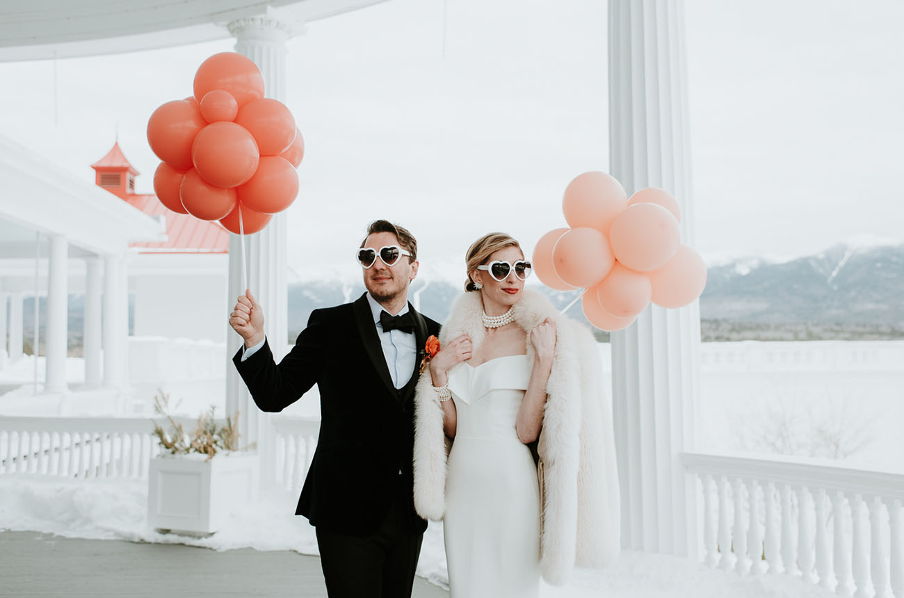 An Event Planner?s Glam Winter Wedding with Pops of Bright Color