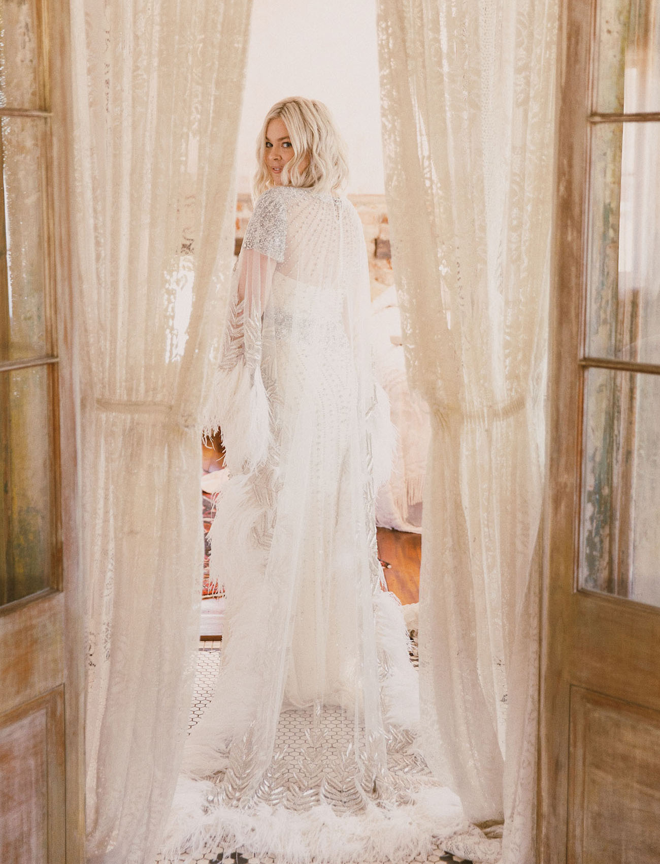 Naeem Khan Bridal Cape