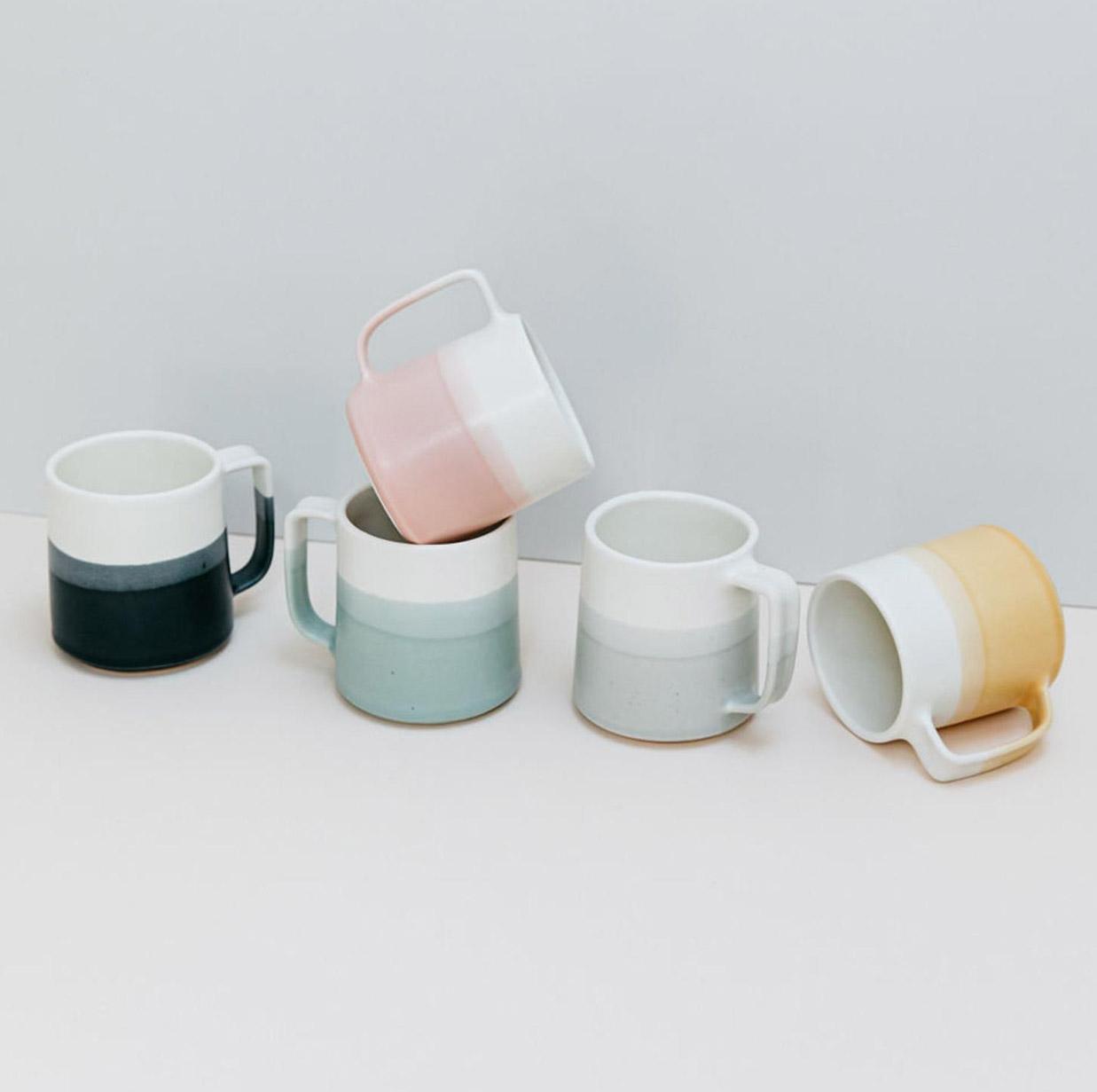 dip dyed mugs