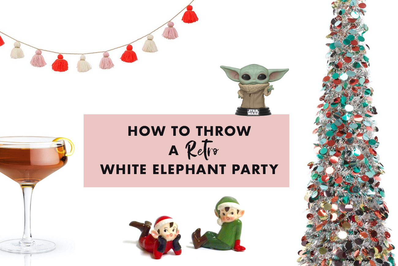 How to Throw a Rad White Elephant Party - Rules, Gift Ideas ... Retro Kitchen Shower Gift Ideas on graduation gift ideas, kitchen shower favors, save the date gift ideas, kitchen art ideas, thanksgiving baby shower ideas, fashion gift ideas, christmas party gift ideas, halloween gift ideas, wedding gift ideas, cooking gift ideas, kitchen centerpieces ideas, first birthday gift ideas, rehearsal dinner gift ideas, kitchen shower cookies, kitchen gift baskets, adult birthday gift ideas, kitchen shower invitations, engagement party gift ideas,