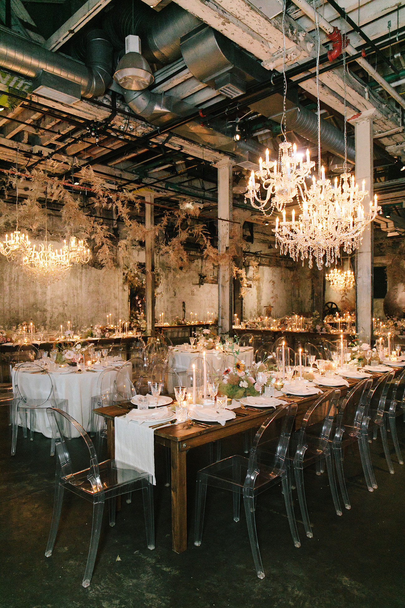 industrial chic reception space