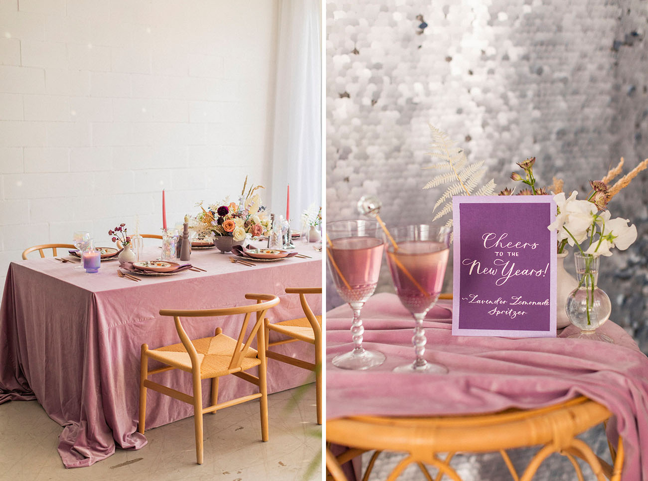Lilac Disco New Years Eve Elopement