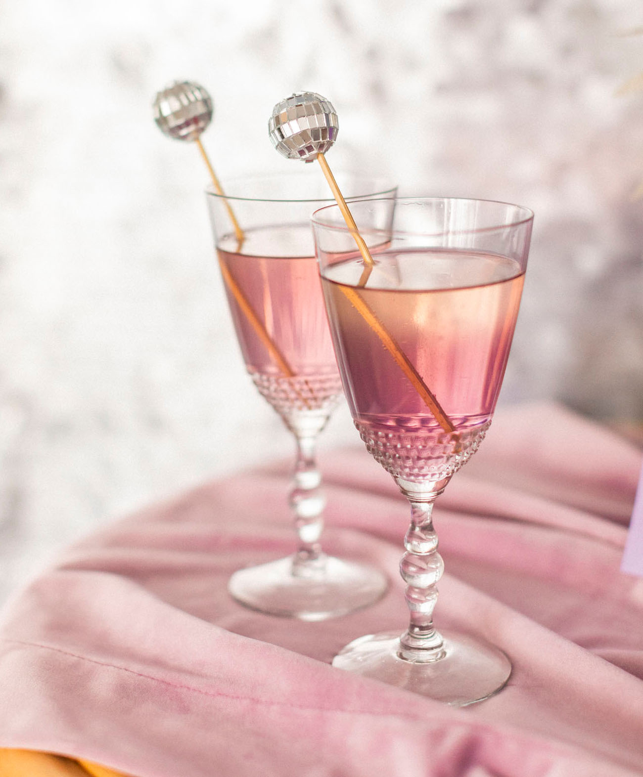 disco ball drink stirrer
