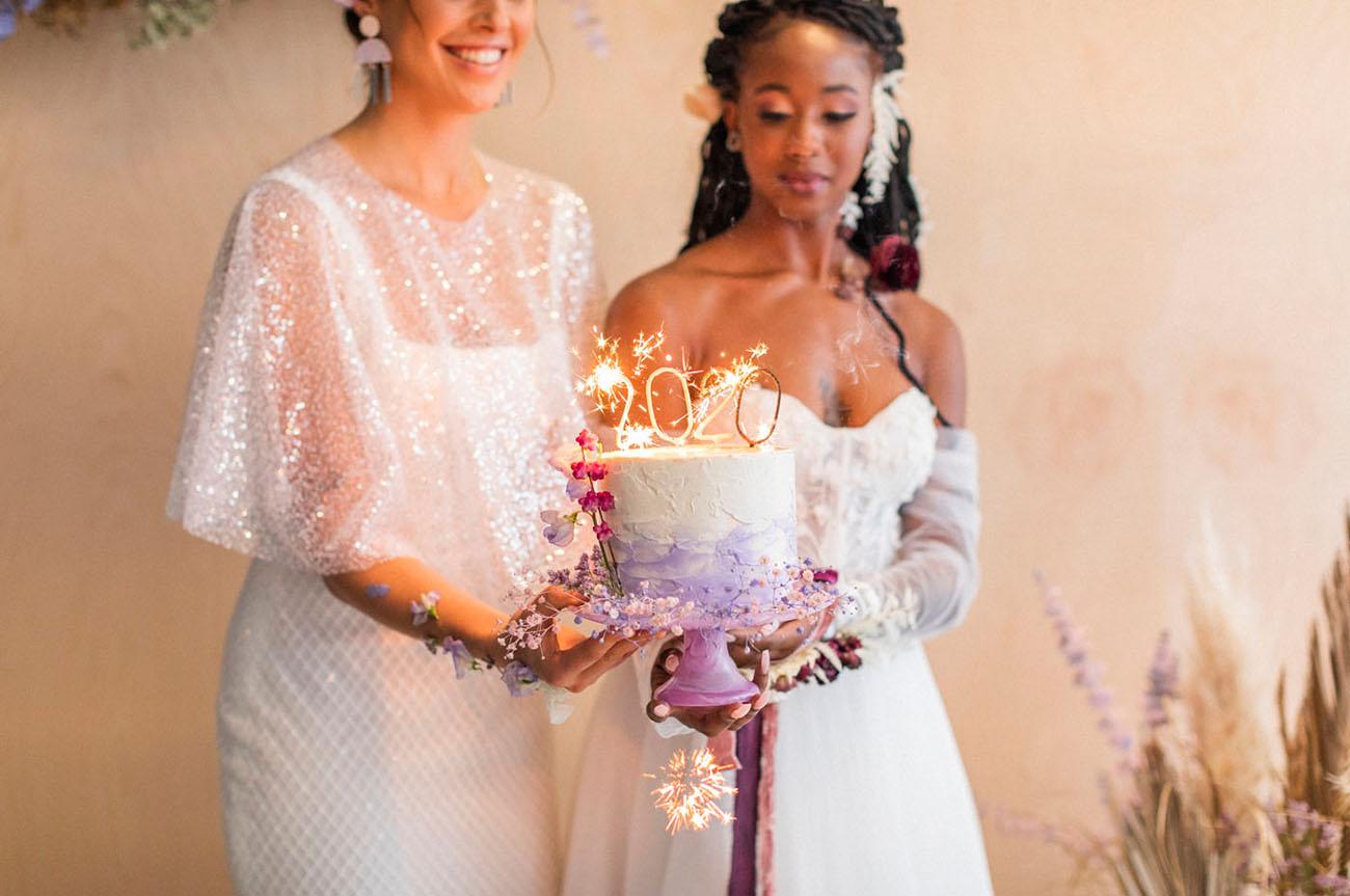 sparkler cake topper