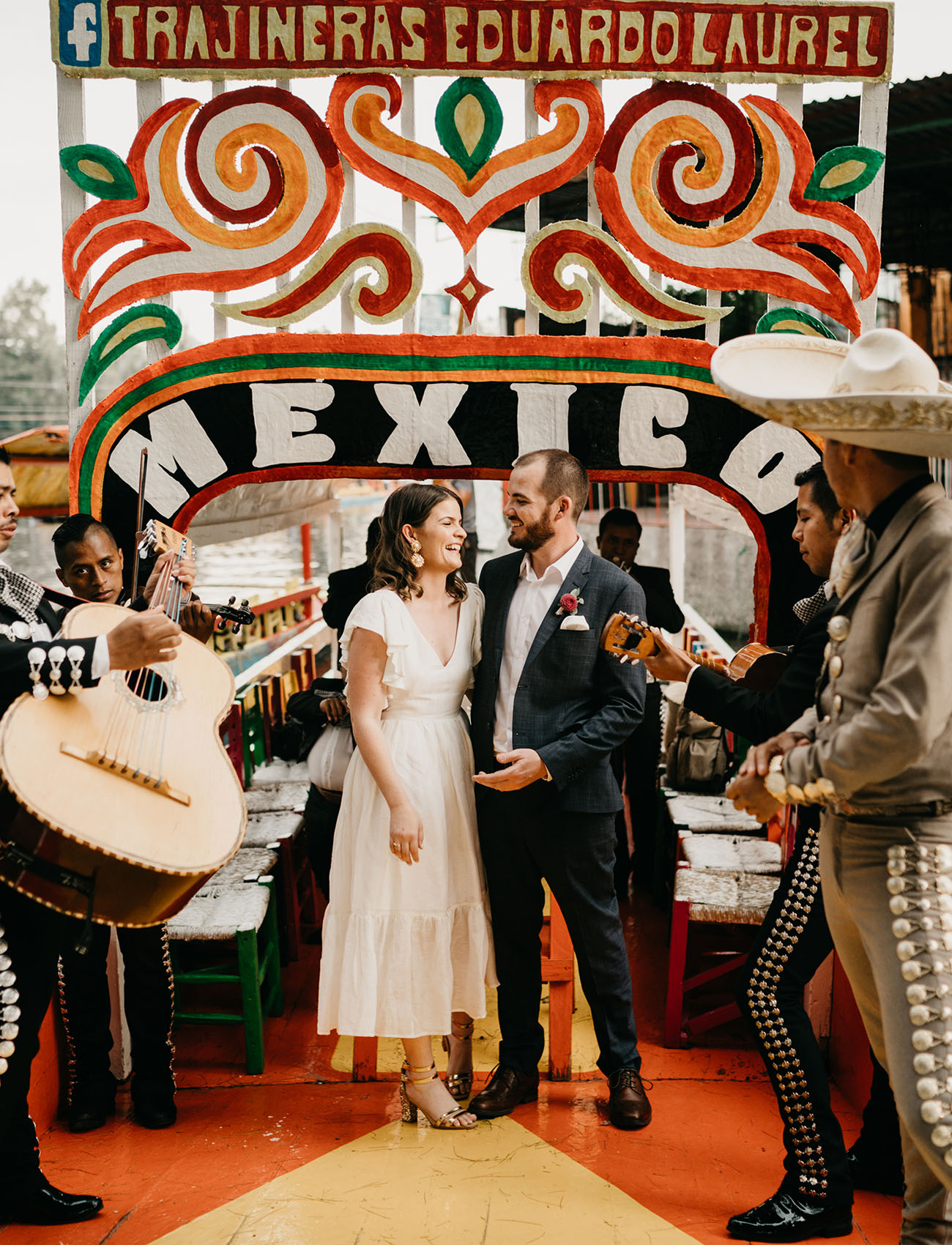 A Colorful and Cultural Destination Elopement at Xochimilco, The Venice of Mexico