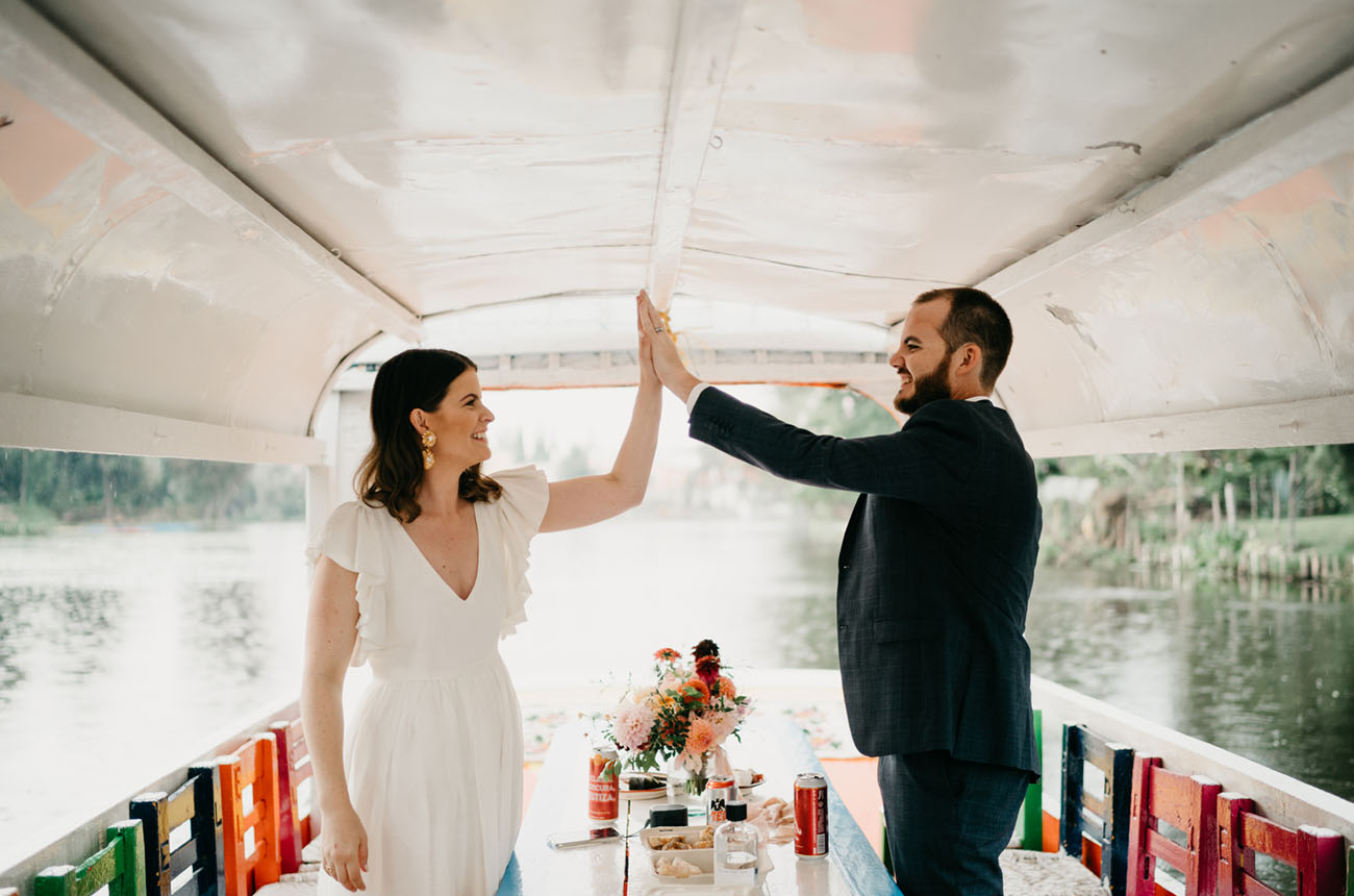 Xochimilco Canals Mexico Elopement