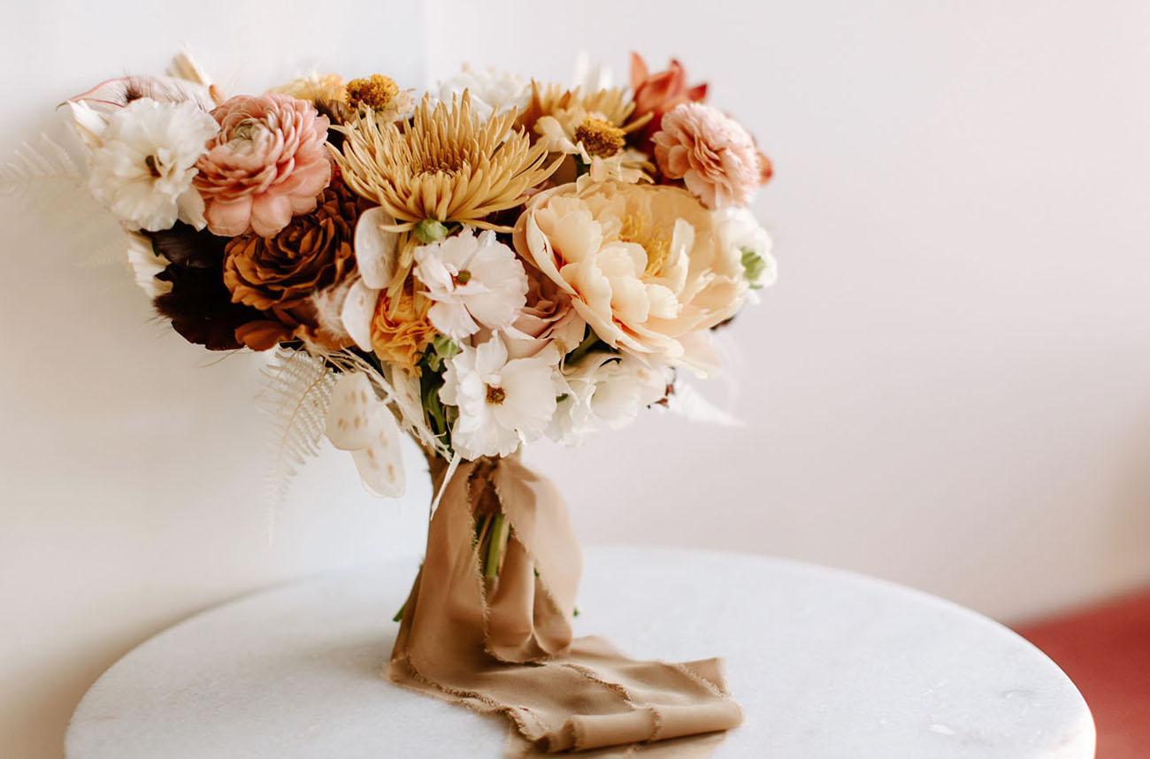 antique pink rose bouquet