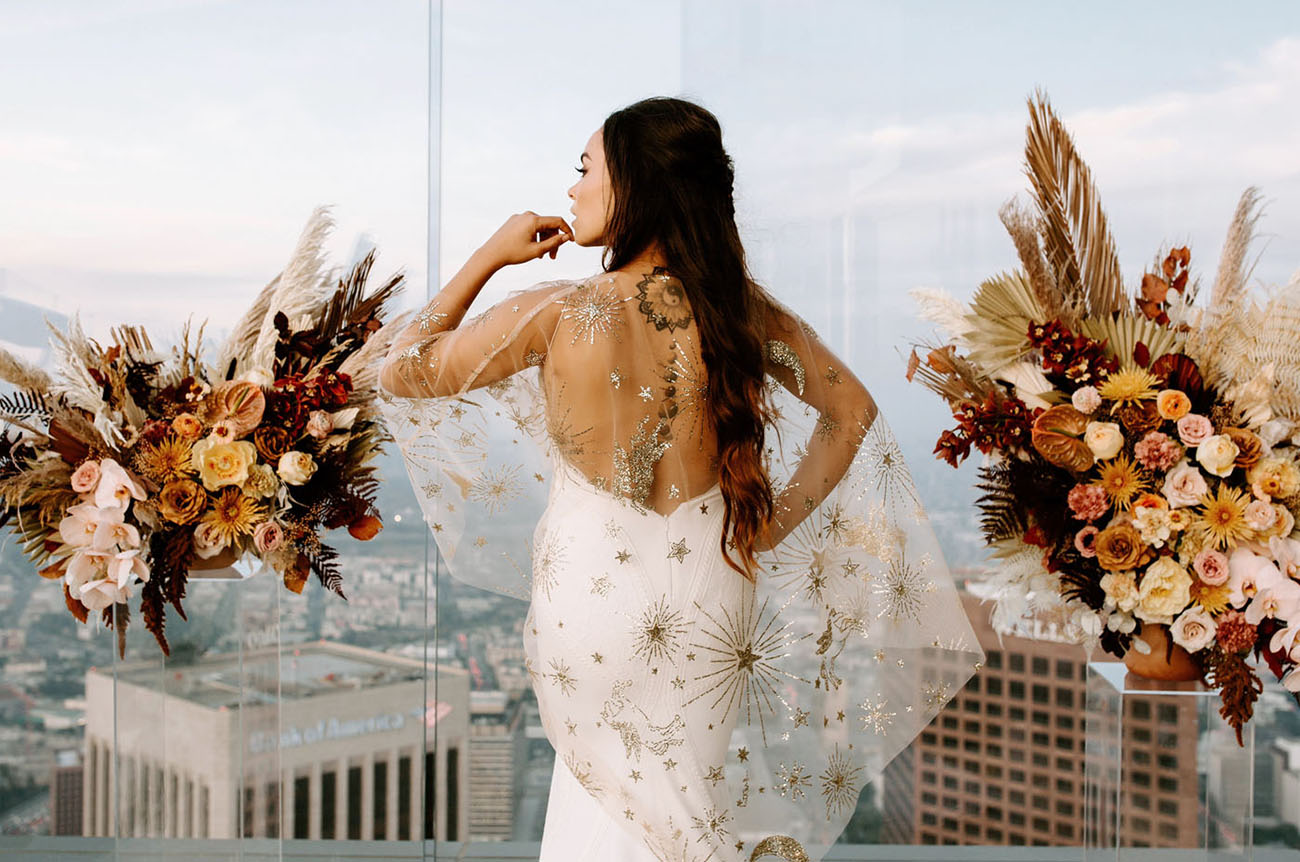 celestial wedding capelet
