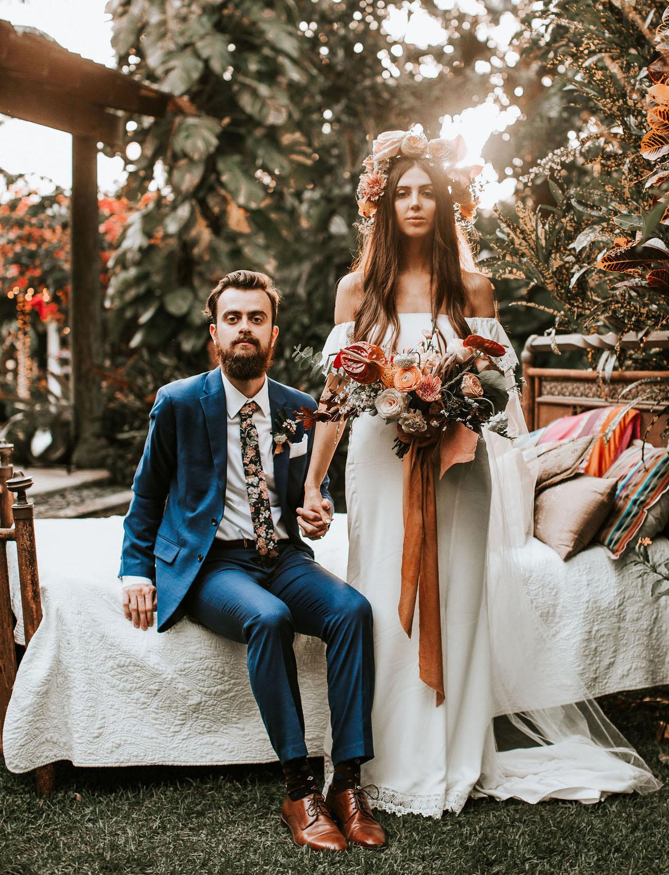 Bohemian Inspired Tropical Garden Wedding
