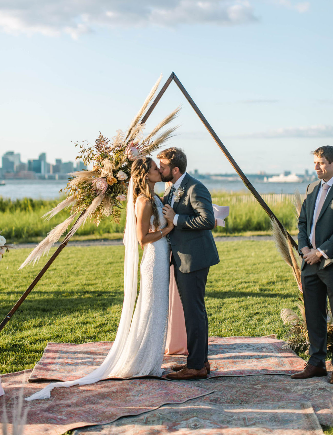 triangle ceremony arch