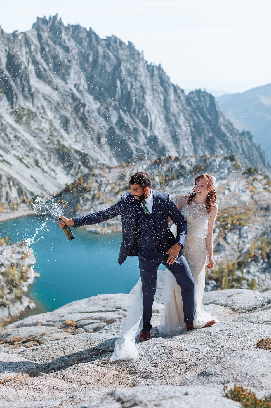 Enchantments Washington Backpack Wedding